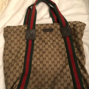 Gucci Monogram Medium Classic Tote Bag
